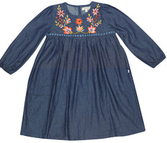 FABRIK Joni Girls Dress - Dark Chambray
