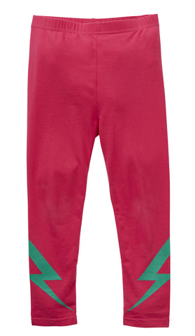 HOOTKID Girl's Got To Bolt Legging/ Hot Pink