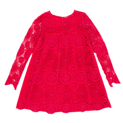 TAHLIA Chicago Lace Dress - Cranberry - Tween Girl 8-14