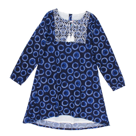 TAHLIA Seattle Moon Print Dress - Tween Girl 8-14