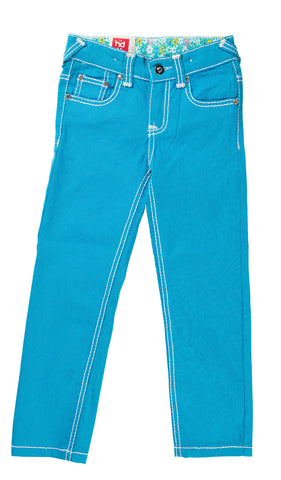 HAVOC DENIM Bright Blue Cheetah Print Skinny Jean