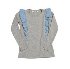 HIDE & SEEK Woohoo Girls Top - Grey Marle