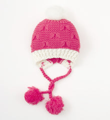 HOOTKID I'm Not Cold Girl's Beanie / Pink