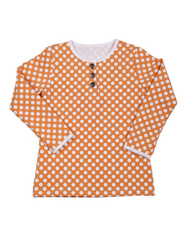HIDE & SEEK Autumn Spotty Girl's Tee / SIZE 8/ LAST ONE!