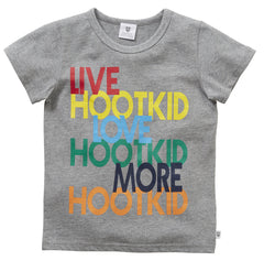 HOOTKID Boy's Talk To Me Tee/ Grey Marle