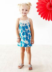 BAOBAB Girls Honey Singlet Dress - Maple Turquoise & Grey