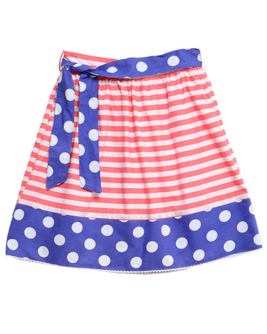 HIDE & SEEK Coral Spot Stripe Girl's Skirt