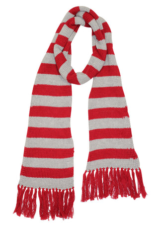 HIDE & SEEK Raspberry Striped Scarf