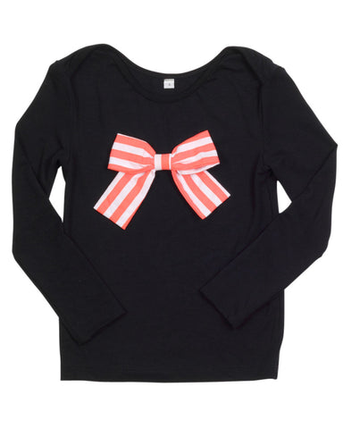 HIDE & SEEK Envelope Bow Tee / Coral