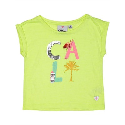 EVE'S SISTER GIRLS CALI TEE - Size 3-7 - Lime Green