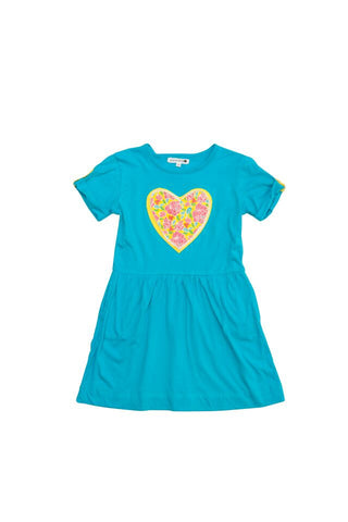 HIDE & SEEK Bella Girl's Dress / Aqua