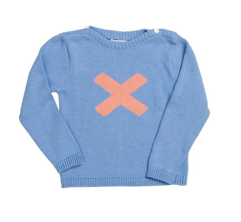 HIDE & SEEK Cross Girls Jumper - Blue