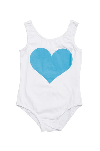 HIDE & SEEK Heart Girl's Leotard / Aqua