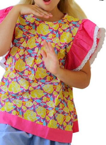 HIDE & SEEK Palm Beach Girl's Top / Pink