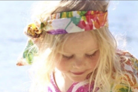 Kaftan Kids English Rose Hair Wrap