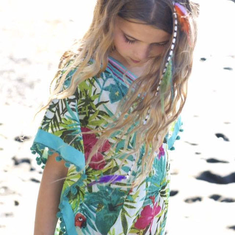 KAFTAN KIDS Bird Of Paradise Girl's Kaftan