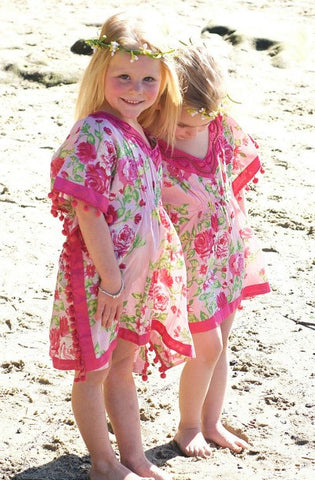 KAFTAN KIDS Paris Pink Girl's Kaftan