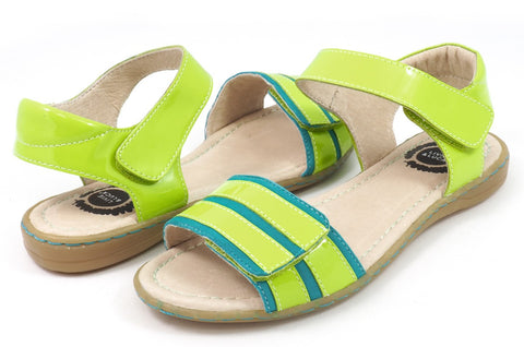 LIVIE & LUCA Taffy Youth Girl's Sandal - Green Apple