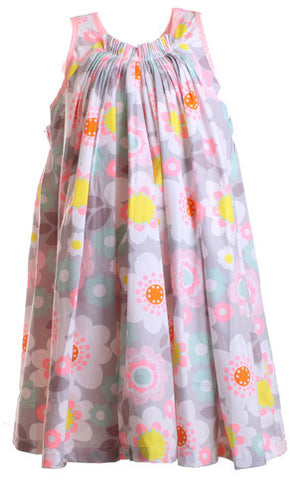 ONE RED FLY Fluro Cloud Flower Girls Dress 6 -14