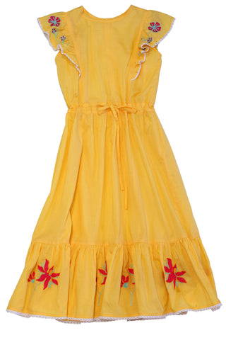 HIDE & SEEK Stella Girl's Dress / Daffodil
