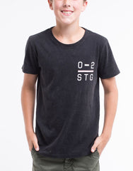 St Goliath Boys Whitting Tee - Black - Tween 8-14