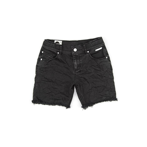 SUDO Fracture Denim Boy's Short - Black