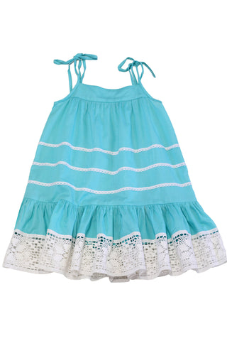 HIDE & SEEK Sunny Girl's Dress / Aqua