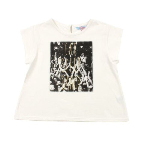 TAHLIA BY MINIHAHA Washington Crowd Girl's Tee - Cloud