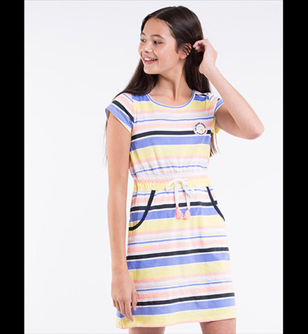 EVE'S SISTER Weekend Dress - Stripe - Tween Girl 8-16