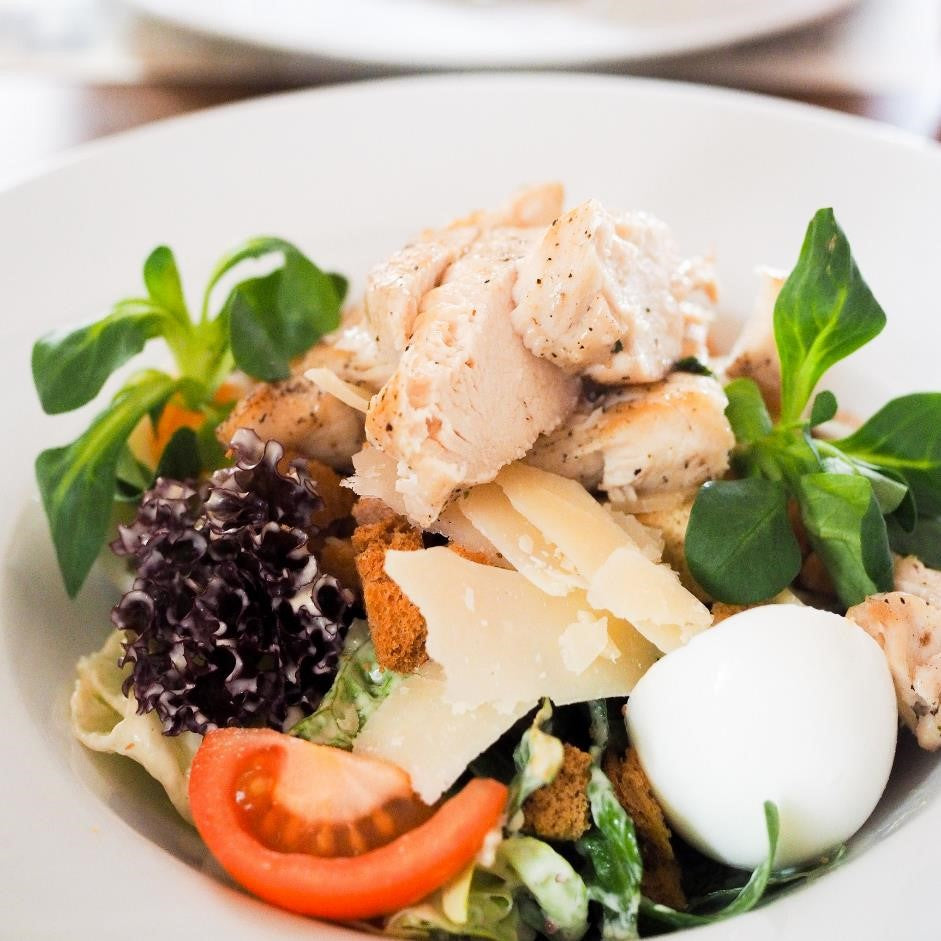 Chef Alex's Summer Chicken Salad With Seasonal Vegetables, Parmesan & Creamy Dressing
