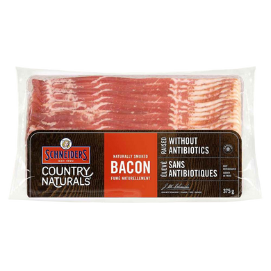 JM Schneider Country Naturals Bacon (375g)