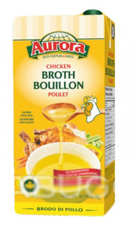 Aurora Fat Free Chicken Broth - NSA - Gluten Free (900ml)
