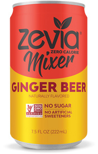 Zevia Ginger Beer No Sugar (6x222ml)