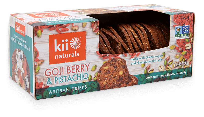 Kii Goji Berry & Pistachio Natural Crisps - Kosher (150g)
