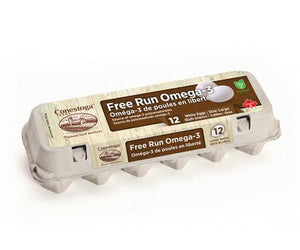Conestoga Free Run Eggs Omega Large White (12 pkg)