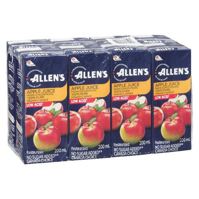 Allen's Apple Juice Box Low Acid (8x200ml)