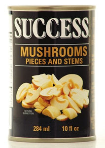 Success Mushrooms Pieces and Stems (284ml)