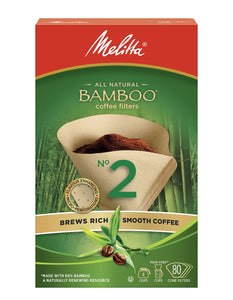 Melitta All Natural Bamboo Coffee Filters #2 (80/pkg)