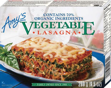 Amy's Kitchen Vegetable Lasagna Entrees (269g)