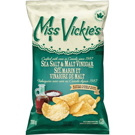 Miss Vickies XL Chips Sea Salt & Malt Vinegar (200g)