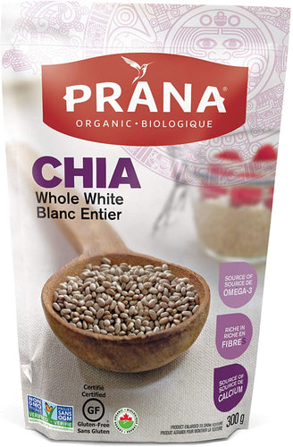 Prana - Whole White Chia Seeds (300g)
