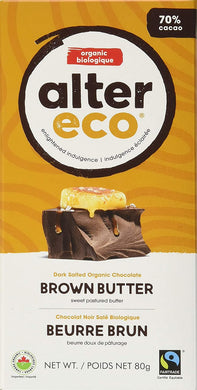 Alter Eco Organic Chocolate Brown Butter (80g)