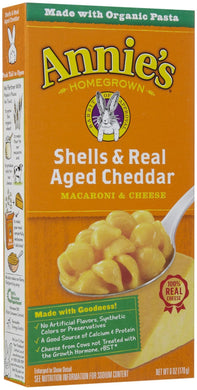 Annies All Natural Mac & Cheese Shells Wisconsin Cheddar (170g)