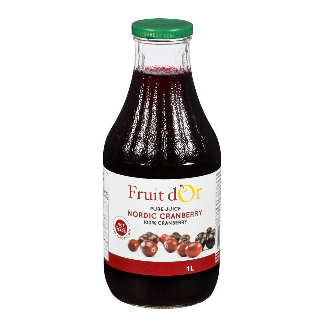 Fruit d'Or Juice Pure Cranberry Kosher (1L)