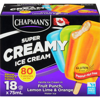 Chapmans Creamy Assorted Supers (18x75mL)