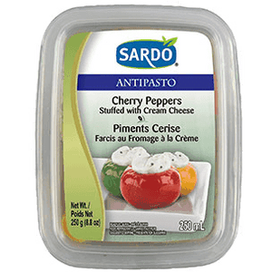 Sardo Cherry Peppers with Cream Cheese (250g)