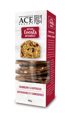 Ace Artisan Toasts Cranberry & Seed (150g)