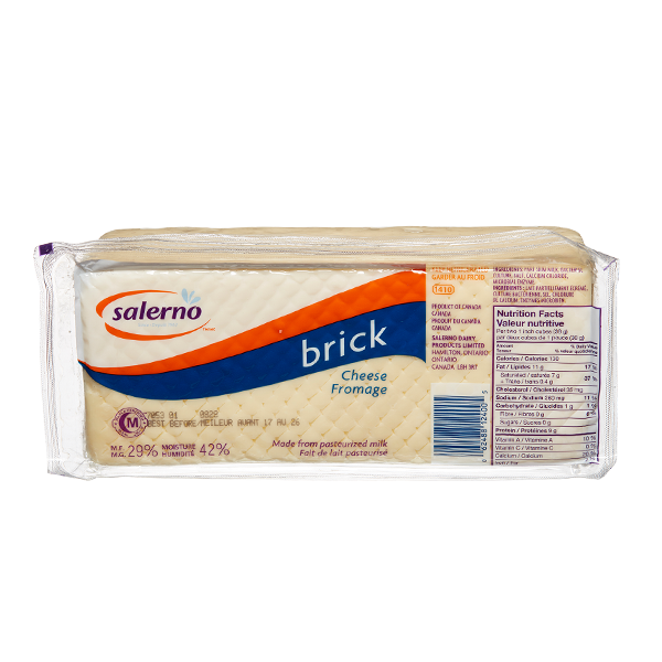 Salerno Brick Cheese (Thin Deli Sliced)
