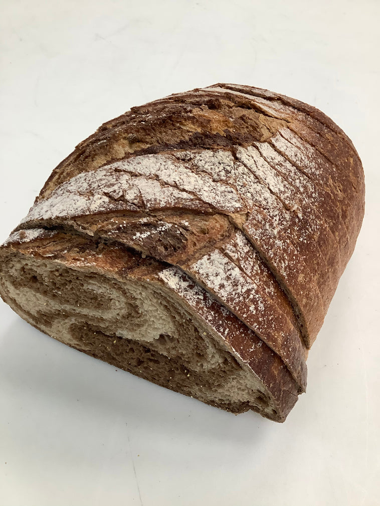 1/2 Loaf Marble Rye Bread - Sliced (430g)