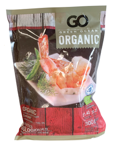 Green Ocean Organic CPTO Black Tiger Shrimp 31/40cnt Frozen (300g)
